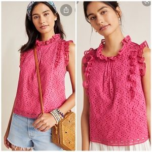HIGH Rated! Anthropologie Tilly Eyelet Blouse